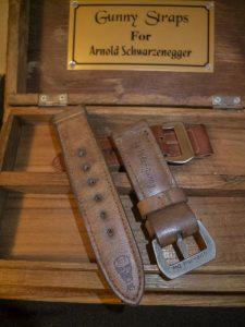 gunnystraps create special design for arnold schwarzenegger