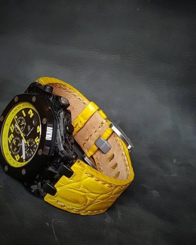 AP croco yellow 01 - Gunny Straps Official