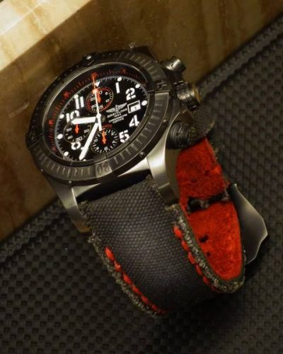 canvas noir red backing - Gunny Straps Official