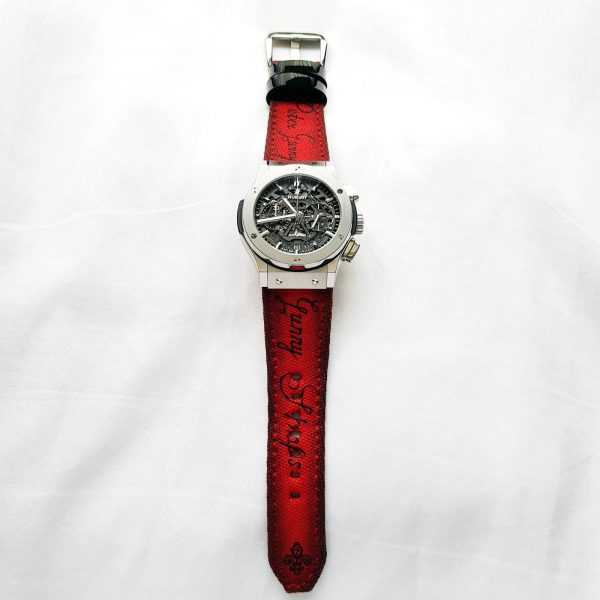 red canvas scritto 01 - Gunny Straps Official