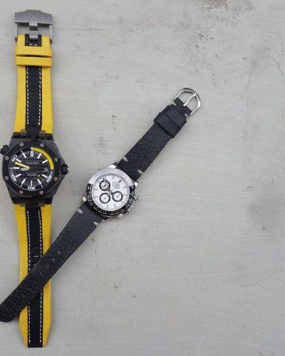 minimalist black n threesome yellow black 01 - Gunny Straps Official