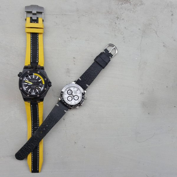 minimalist black n threesome yellow black 01 - Gunny Straps Official