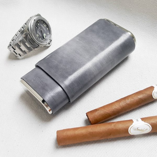 grey cigar case 01 - Gunny Straps Official