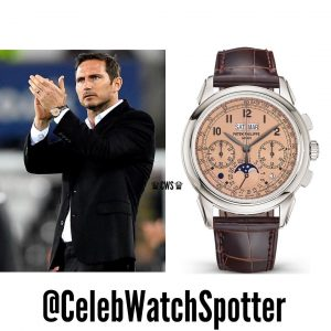 Frank Lampard wearing the Grand Complications 5270P (source: instagram @celebwatchspotter)