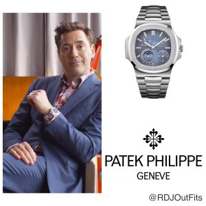 Robert Downey Jr (Iron Man) wearing Patek Philippe 5712 Stainless Steel