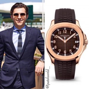 Tom Holland wearing Patek Philippe Aquanaut 5167