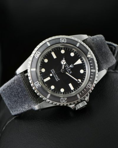 two tone canvas dark light grey alan rolexdiver tudor omega watch