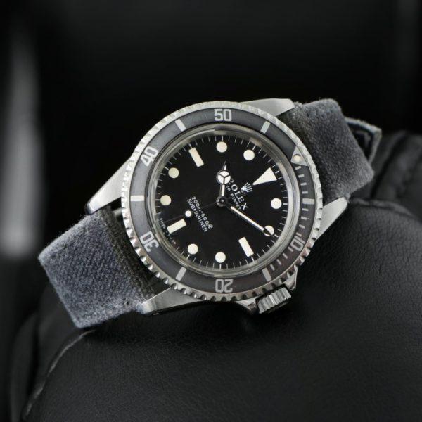 two tone canvas dark light grey alan rolexdiver tudor omega watch