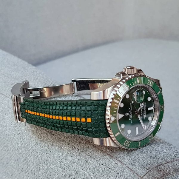 extreme chessboard green orange stripe rolex